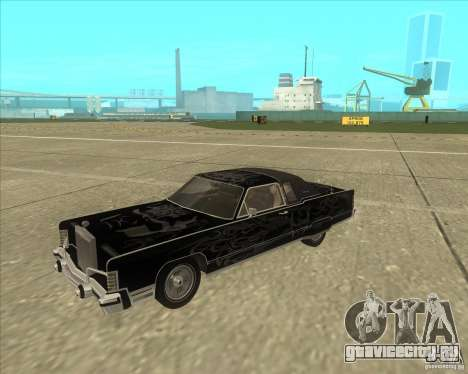 Lincoln Continental Town Coupe 1979 для GTA San Andreas вид сбоку