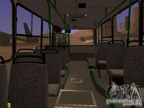 Ikarus C63 для GTA San Andreas вид изнутри