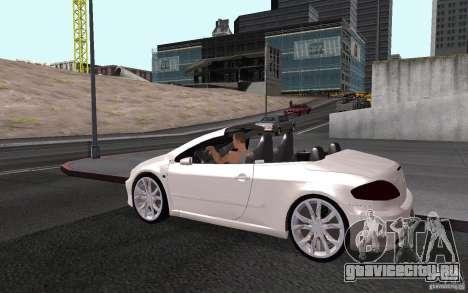 Peugeot 307CC BMS для GTA San Andreas вид снизу