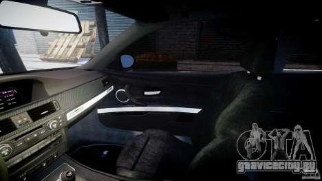 BMW M3 E92 stock для GTA 4 вид изнутри