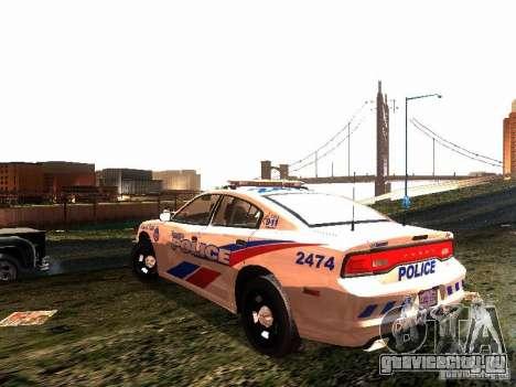 Dodge Charger 2011 Toronto Police для GTA San Andreas вид сзади слева