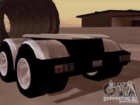 Прицеп к Peterbilt 378 Custom для GTA San Andreas вид сзади слева
