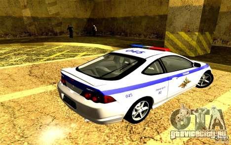 Acura RSX-S Полиция для GTA San Andreas