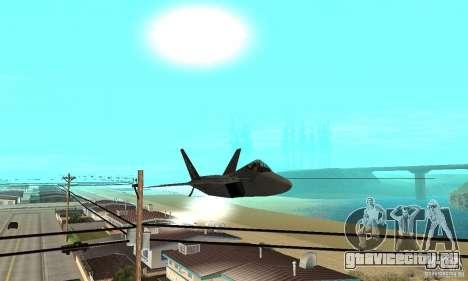 F-22 Grey для GTA San Andreas вид сбоку