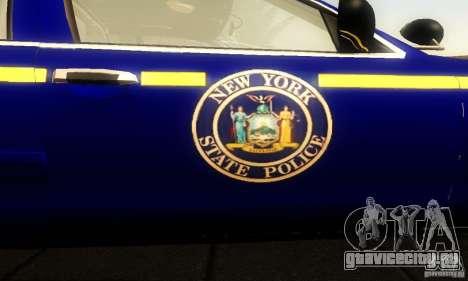 Ford Crown Victoria New York Police для GTA San Andreas вид сзади