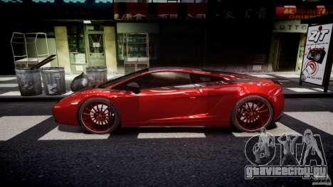 Lamborghini Gallardo Superleggera 2007 (Beta) для GTA 4 вид слева