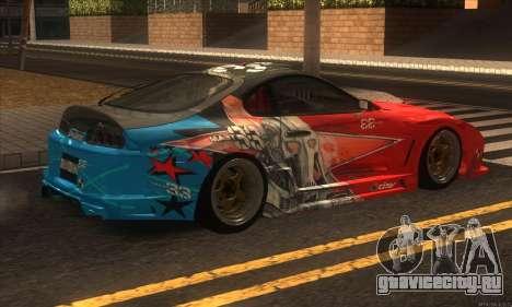 Toyota Supra Evil Empire для GTA San Andreas вид сзади