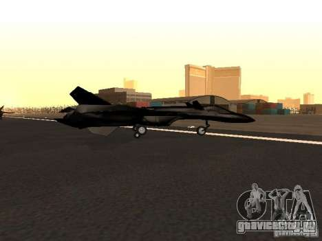 Y-f19 macross fighter для GTA San Andreas вид слева
