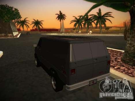 GMC Vandura для GTA San Andreas вид справа