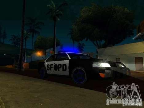 San-Fierro Sultan Copcar для GTA San Andreas вид сзади