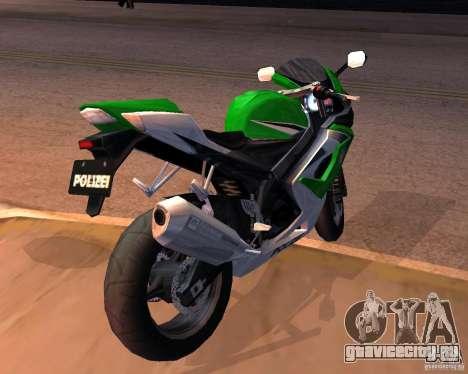 Suzuki 1000 Police для GTA San Andreas вид сзади слева