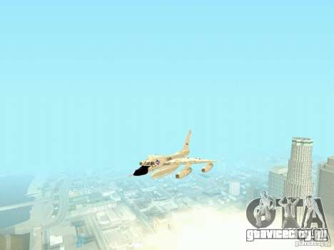 B-58 Hustler для GTA San Andreas вид сзади