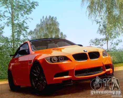 BMW M3 GT-S 2011 для GTA San Andreas вид сзади слева