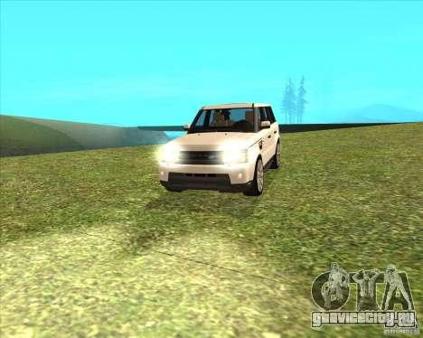 Range Rover Sport 2012 для GTA San Andreas вид сзади слева