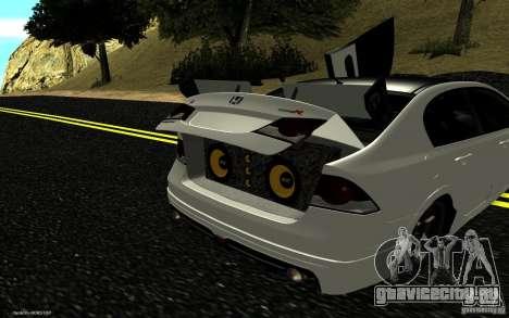 Honda Civic Type R для GTA San Andreas салон