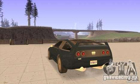 Deluxo HD для GTA San Andreas вид сзади слева
