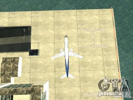 Embraer E-190 для GTA San Andreas вид изнутри