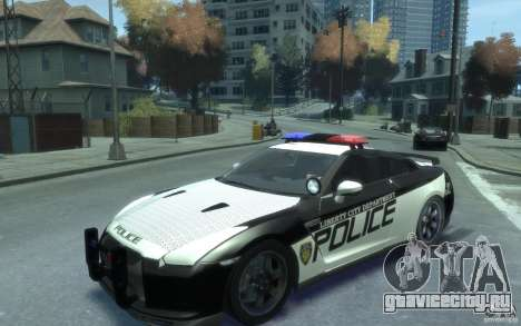 Nissan GT-R R35 Police для GTA 4