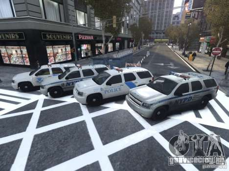 Chevrolet Tahoe Homeland Security для GTA 4 вид сбоку