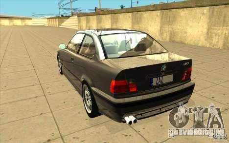BMW E36 M3 - Stock для GTA San Andreas вид сзади слева