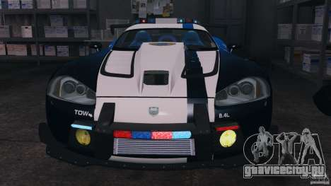 Dodge Viper SRT-10 ACR ELITE POLICE [ELS] для GTA 4 вид изнутри