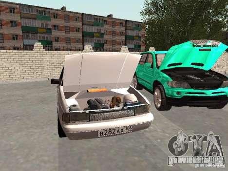 Москвич 2141 для GTA San Andreas вид изнутри