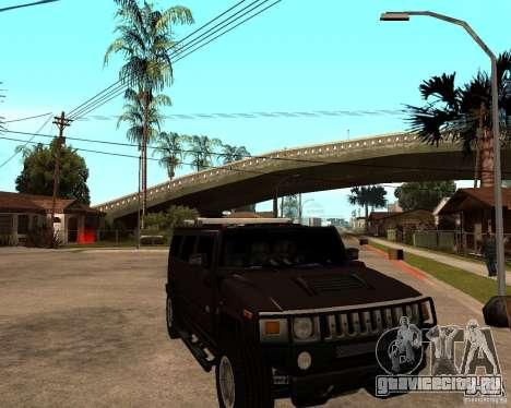 Hummer H2 SE для GTA San Andreas вид сзади