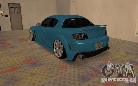 Mazda RX8 VIP для GTA San Andreas вид сзади слева