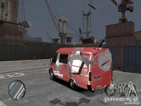 ГАЗель 2705 Telkomsel Van для GTA 4 вид слева