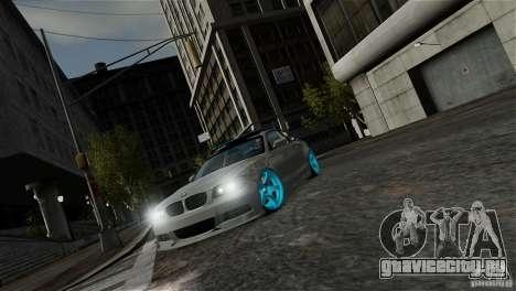 BMW 135i HellaFush для GTA 4 вид изнутри