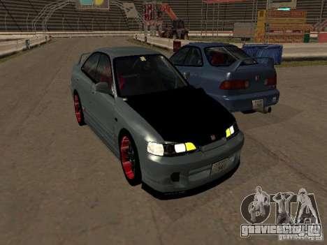 Honda Integra TypeR для GTA San Andreas вид сзади слева