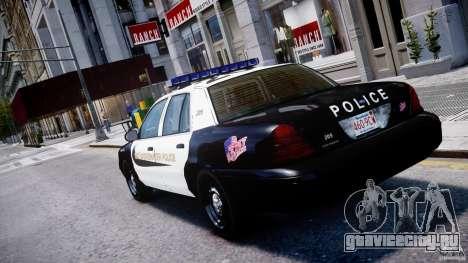 Ford Crown Victoria Massachusetts Police [ELS] для GTA 4 вид сзади слева
