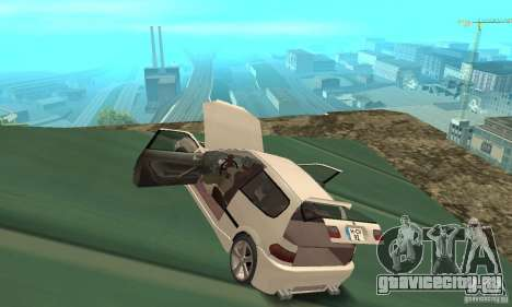 Honda Civic SiR II Tuning для GTA San Andreas вид изнутри