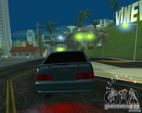 ВАЗ 2113 Ferarri для GTA San Andreas вид изнутри