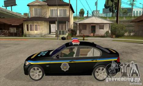 BMW 3 Series ДПС для GTA San Andreas вид слева