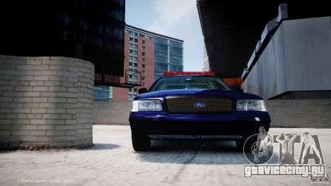 Ford Crown Victoria New York State Patrol [ELS] для GTA 4 двигатель