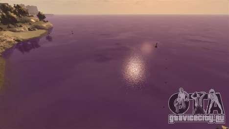 Фиолетовый цвет воды для GTA 4 третий скриншот