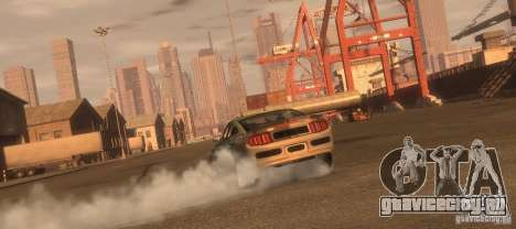 Ford Mustang Monster Energy 2012 для GTA 4 вид справа
