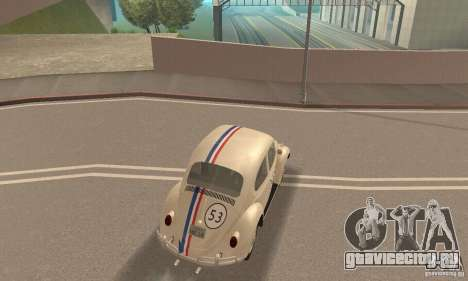 Volkswagen Beetle 1963 для GTA San Andreas вид сверху