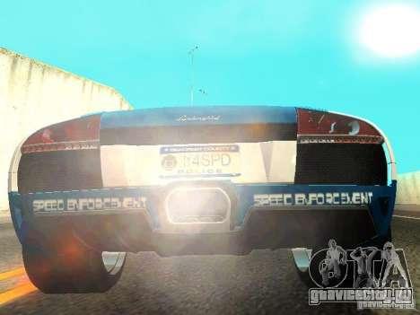 Lamborghini Murcielago LP640 Police V1.0 для GTA San Andreas вид сзади