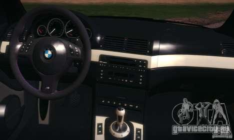 BMW M3 для GTA San Andreas вид сверху