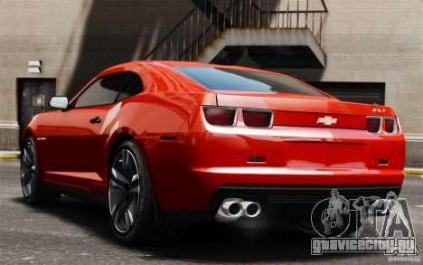 Chevrolet Camaro ZL1 v1.0 для GTA 4 вид сзади