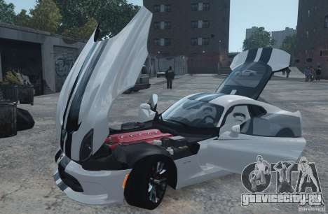 Dodge Viper SRT GTS 2013 для GTA 4 вид сзади