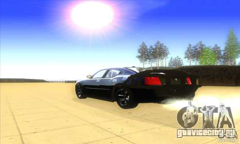 Dodge Charger From Fast Five для GTA San Andreas вид сзади