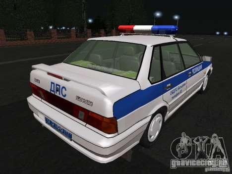 ВАЗ 2115 Полиция ДПС для GTA San Andreas вид справа