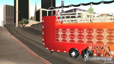 Scania 93H 6x2 Trio Eletrico для GTA San Andreas вид слева