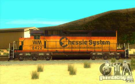 Chessie System sd40-2 для GTA San Andreas вид слева