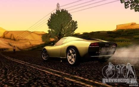 Lamborghini Miura Concept для GTA San Andreas вид сверху
