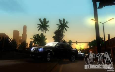 Cadillac Escalade EXT для GTA San Andreas вид изнутри