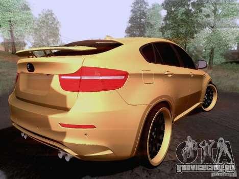 BMW X6M Hamann для GTA San Andreas вид справа